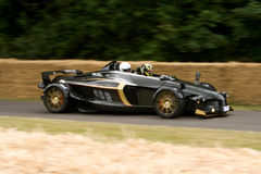 Black tramontana. On track at goodwood festival of speed stock photos