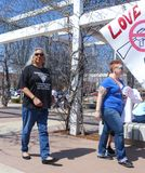 Black transgender veteran at March for Our Lives rally in Tulsa Oklahoma USA 3 24 2018 royalty free stock image