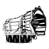 Black Transmission Silhouette. An image illustration of a Allison transmission royalty free illustration