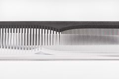 Black and transparent combs Royalty Free Stock Images