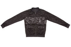 Black transparent jacket is made  of mesh Stock Photography