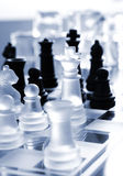Black and transparent white chess Royalty Free Stock Photography