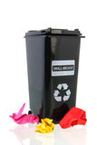 Black trash can for paper Royalty Free Stock Photo