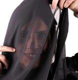 Black trasparent scarf Royalty Free Stock Image
