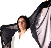 Black trasparent scarf Stock Photography