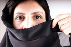 Black trasparent scarf Royalty Free Stock Photography