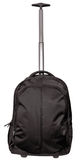 Black travel bag isolated on white Stock Photos
