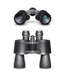 Black travel binoculars Stock Images