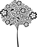 Black tree. Tree in black and white - vector illustration Royalty Free Stock Images