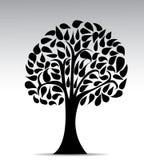 Black tree illustration  on white background Royalty Free Stock Photos