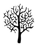 Black tree without leaves, vector Stock Images