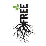Black Tree, Roots and text FREE Royalty Free Stock Photography