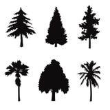 Black Tree shapes objects Royalty Free Stock Photography