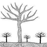 Black trees isolated on white background vector Stock Photo