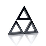Black triangle Royalty Free Stock Images