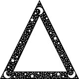 Black triangle border Royalty Free Stock Images