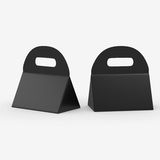 Black triangle box with handle, clipping path included Royalty Free Stock Image