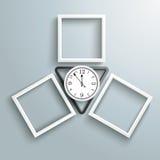 Black Triangle  3 Frames Clock Royalty Free Stock Photo