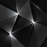 Black triangle geometric background Stock Photo