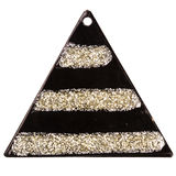 Black triangle pendant Stock Photo