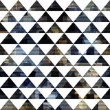 Black triangle seamless pattern Royalty Free Stock Photos