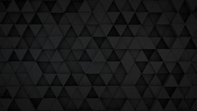 Black triangles extruded surface 3D render Stock Photos