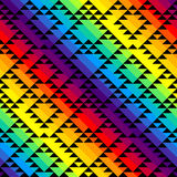 Black triangles on rainbow background Royalty Free Stock Photo