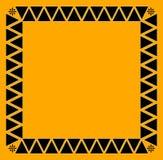 Black tribal border tile Stock Images