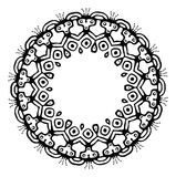Black tribal frame in ethnic style, vector Royalty Free Stock Photo
