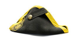Black tricorn hat Stock Image