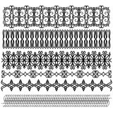 Black trim collection Royalty Free Stock Photography