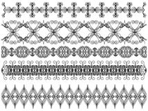 Black trim collection Royalty Free Stock Images