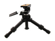 Black Tripod. Isolated on white Royalty Free Stock Photography