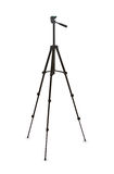 Black tripod isolated over white Royalty Free Stock Images