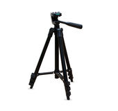 Black tripod isolated over white Royalty Free Stock Photography