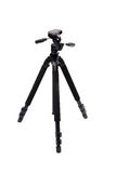 Black tripod isolated Royalty Free Stock Photos