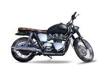 Black Triumph motorcycle isolated on white Stock Photography