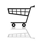Black trolley Stock Images