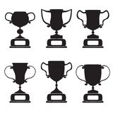 Black trophy and awards icons set Royalty Free Stock Images