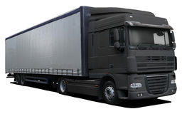 Black truck DAF XF Royalty Free Stock Photography