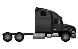 Black truck empty Stock Photo