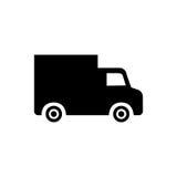 Black truck icon Stock Photo