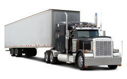 Black Truck Peterbilt Stock Photography
