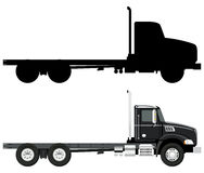 Black truck Stock Photography