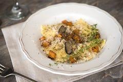 Black Truffle And Parmesan Pasta Royalty Free Stock Photo
