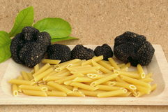Black truffle pasta Royalty Free Stock Photography