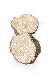 Black truffle section on white royalty free stock images