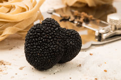 Black Truffle, Slicer, and Pasta Royalty Free Stock Images