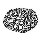 Black truffles icon in black style isolated on white background. Mushroom symbol stock vector illustration. Stock Photography