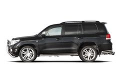 Black tuned SUV stock photo